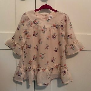Baby Gap Floral Frilly Dress Size 18-24 mons NWOT